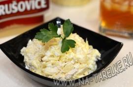 Куриный салатик с ананасом